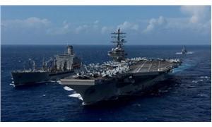 ABD helikopteri uçak gemisinin üstüne düştü
