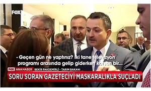 Bakan Pakdemirli, gazetecinin sorusunu beğenmedi: 'Maskaralık yapıyorsunuz'