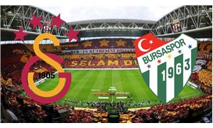 Galatasaray-Bursaspor karşılaşmasında ilk 11'ler belli oldu