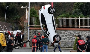 Sarıyer'de otomobil denize düştü