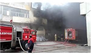 Uşak'ta elyaf fabrikasında yangın