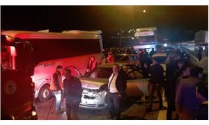 TEM'de zincirleme kaza: 16 yaralı
