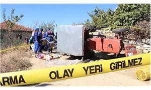 Devrilen traktörünün altında kalan kadın yaşamını yitirdi