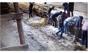 Kanalizasyon çalışmasında toprak altında kalan işçi yaralandı
