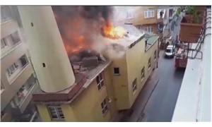 Şişli'de cami yangını