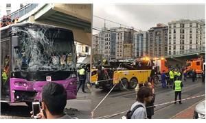 Aksaray'da halk otobüsü tramvay hattına girdi