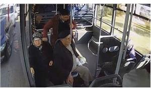 Halk otobüsü şoförü, rahatsızlanan yolcuyu hastaneye yetiştirdi