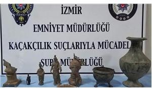 İzmir'de çok sayıda tarihi eser ele geçirildi