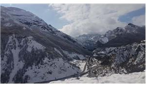 Dersim'de 49 köy yolu, kar nedeniyle ulaşıma kapandı