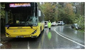 Sarıyer'de otomobille İETT otobüsü çarpıştı: 1 yaralı