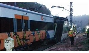 Barselona'da tren raydan çıktı: 1 ölü