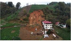 Trabzon'da heyelan: 3 katlı bina boşaltıldı