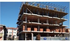Tuzla'da inşaat halindeki 8 katlı binanın iki katı çöktü