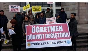 """Eğitim Sen'den İl Milli Eğitim Müdürlükleri önünde eylem: """"Ekonomik kayıplarımız karşılansın"""""""