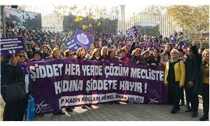 Bursa'da kadına şiddete karşı yürüyüş