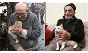Ali Dede ve kedisi mutlu günlere kavuştu