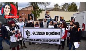 Gazeteciler, tutuklu meslektaşları için ayakta