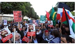 Tunus'ta Veliaht Prens ziyaretine protesto