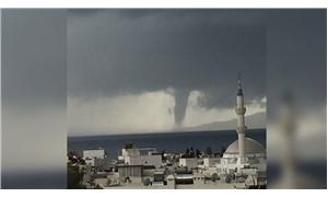 Denizdeki hortumun ardından, Bodrum'u yağmur ve dolu vurdu