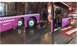 Bisikleti metrelerce sürükleyerek ezen otobüs şoförü görevden alındı