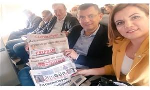 """CHP'li vekillerden """"THY'nin sansürüne inat muhalif gazetelerle dayanışma uçuşu"""""""