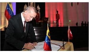 Erdoğan Venezuela'da konuşuyor