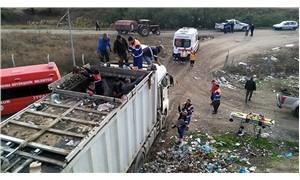 Çöp konteynerine düşen işçi yaşamını yitirdi