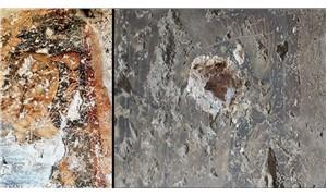 Roma döneminden kalma fresk, yontularak çalındı