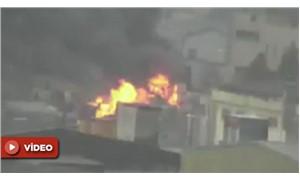 Tuzla'da bir fabrikada yangın