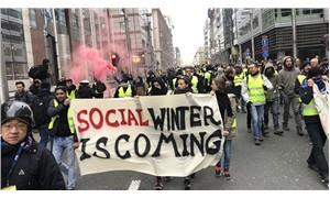 Belçika'da 'sarı yelekliler'e müdahale: 50 gözaltı