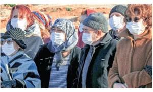 Beyaz maskelerle taşocağı protestosu