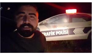 Maket polis aracını gerçek sanıp, kamyonetiyle 1 saat bekledi