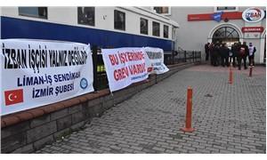 İzmirlilerden grevdeki İZBAN işçilerine destek