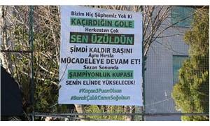 Denizlispor'da Burak Çalık'a pankartlı destek