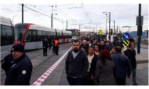 Bağcılar-Kabataş tramvayı arıza yaptı