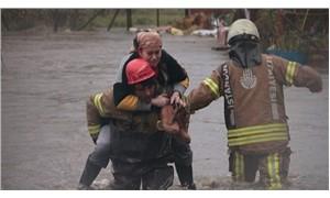 Ayazağa deresi taştı: 4 evi su bastı