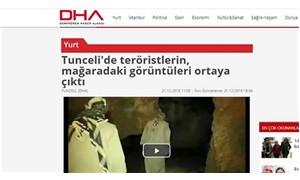 DHA, belgesel sahnesini 'mağaradaki teröristler' diye servis etti