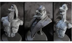 Turhan Selçuk çizgi kahramanları heykelleri Şişli'de