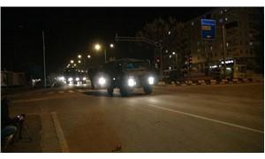Suriye'ye gece boyunca askeri sevkiyat