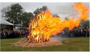 Edirne'de Kakava ateşi yandı
