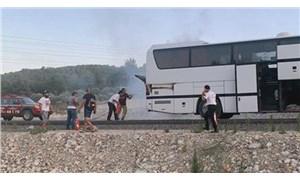 Muğla'da yanan otobüs orman yangını ilk müdahale ekibi tarafından söndürüldü