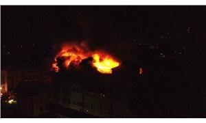 Zonguldak fındık fabrikasında yangın