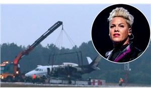 Dünyaca ünlü şarkıcı Pink'in jeti alev aldı