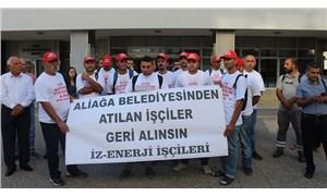 İZENERJİ işçileri Aliağa'ya yürüyor