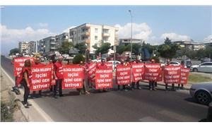 Aliağa Belediyesi işçileri yol kapattı!