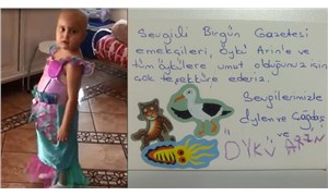 Öykü Arin'den BirGün'e teşekkür kartı