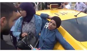 Taksim'de taksici çarptığı turisti darp etti