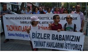 Soma'da maden işçilerinden tazminat eylemi