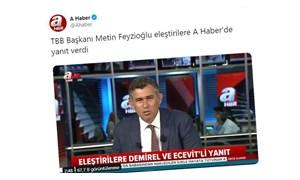 41 baronun boykot ettiği Saray törenine katılacak olan TBB Başkanı Metin Feyzioğlu, A Haber'e çıktı