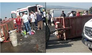 Traktörün römorku devrildi: 11 tarım işçisi yaralandı